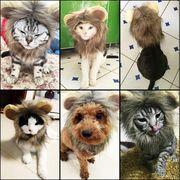 ペット用品 ライオンに変身 猫、犬用品 犬雑貨 カツラ 帽子 飾り 可愛い 冬