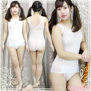 1217D▲MB■送料無料■ シースルー旧スク 色:白 サイズ:M/BIG