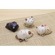 「陶製の置物」 猫 置物【NO.3】