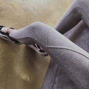 秋新作レディースボトムス 3色 新しいデザイン リブレギンス スパッツ タイツ ロング丈パンツ 伸縮性着回し