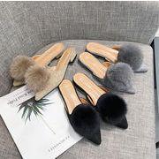 ★秋冬新作★レディース シューズ 靴 プンプス ふわふわ 防寒 保暖 かわいい