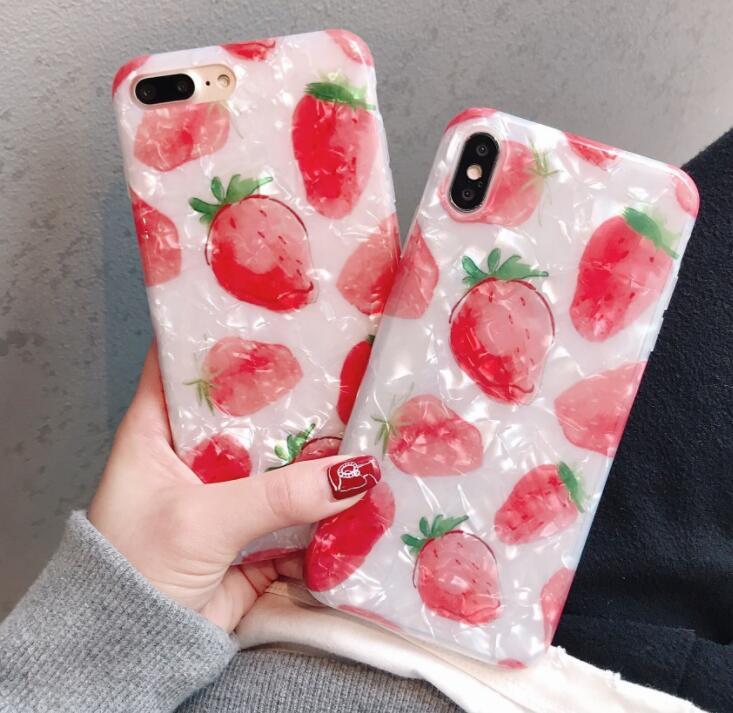 韓国 iPhoneXS iPhoneX iPhone8 iPhone7Plus 可愛い 韓国 フルーツ
