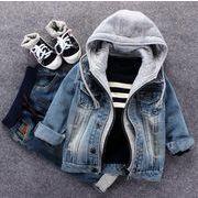 キッズジャケット  95-135 デニム 秋 普段着 長袖 子供コート 日常用 男の子