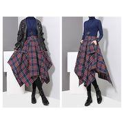 チェック 変形スカート1108262-0075