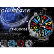 メンズウォッチ チェッカーフレームタイプ ビッグフェイス◇-clubface- メンズ腕時計 CF-9000NM