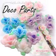 デコパーツ【ローズ 選べる4色】【1個】レジン ネイル デコ ボールペン 薔薇 バラ