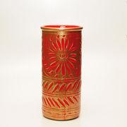 【イタリア製】陶器かさ立て ブロンズ/レッド (KPO/96-1397)