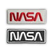 【予約販売】NASA公認ワッペン・アップリケ・NASAロゴ・ロゴタイプ(ワーム)2枚セット