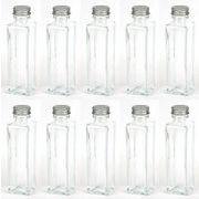 【即納】ハーバリウム用ボトルスクエア375ml 10本セット 日本製 シルバーキャップ付き