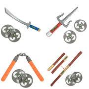 ハロウィン コスプレ 忍者タートルズ 武器 全4種 コスチューム ニンジャタートルズ おもちゃ兵器 qx10021-8