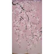 のれん 150cm丈「しだれ桜」【日本製】和風 コスモ 目隠し