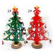 クリスマス・アクセサリー 創意クリスマスツリー デスクトップ飾り 木製のクリスマス