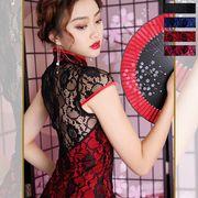 1070レース配色セクシーミニチャイナドレス 衣装 コスプレ キャバドレス ハロウィン