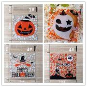 ハロウィンの幽霊 カボチャのビスケット キャンディの袋 菓子包装袋 100枚入り