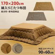 綿入りこたつ布団 170×200 BR/GY