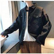 秋冬新作メンズコート ジャケット トップス ゆったり おしゃれ♪ブラック/ベージュ2色