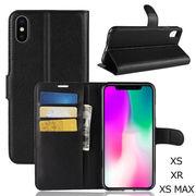 iPhoneXS XR XS MAX 手帳型ケース カード収納ポケット おしゃれ レザー スマートフォンケースカバー 耐衝撃