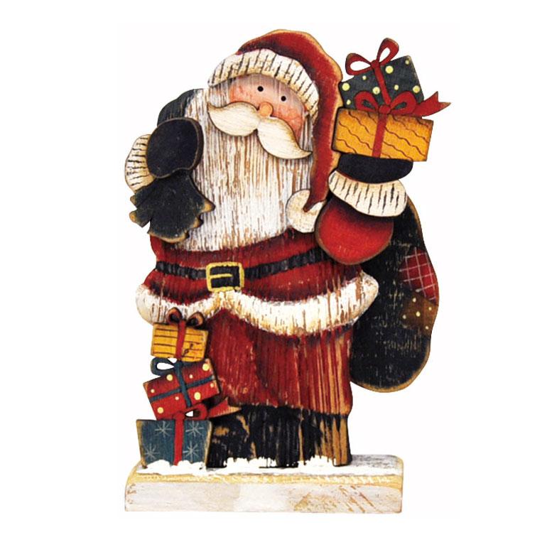 [掛率ダウン!]<AMANO>【クリスマス】【木製オブジェ】木ボード小・サンタ