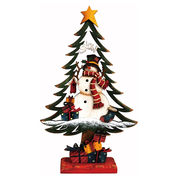 <AMANO>【クリスマス】【木製ツリー】スノーマン
