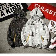 秋冬新作メンズジャケット トップス シンプル おしゃれ♪ブラック/ホワイト2色