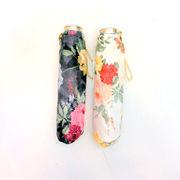 【折りたたみ傘】【日本製】ツヤツヤサテン生地プリント超軽量&超短サイズ日本製丸ミニ折雨傘