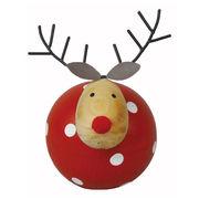 <AMANO>【クリスマス】【木製オブジェ】ドットディア・RED