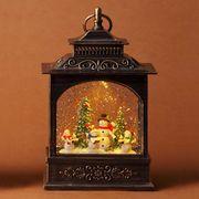 <AMANO>【クリスマス】【ウォーターライト】レクトランタンウォーターボール・スノーマン