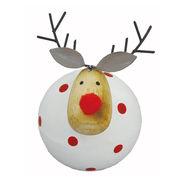 <AMANO>【クリスマス】【木製オブジェ】ドットディア・WHITE