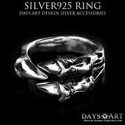 シルバーリング シルバー925 龍の爪 ドラゴンクロー 竜 サイズフリー SILVER925 メンズリング