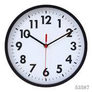 掛け時計 ミーナ Φ25cm ブラック