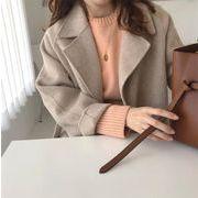 韓国ファッション レディース新作OL通勤/コート ジャケット 可愛い 長袖 ロング丈