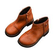 レザー イングランド カレッジ風 ブーツ シングルブーツ マーティンブーツ 女児 男児