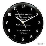 掛け時計 カバー付きウォールクロック Φ25cm BLACK