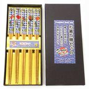 <和雑貨・和土産>お箸5膳セット 寿司 No.303-312