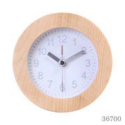 置き時計 ウッド ラウンド ホワイト