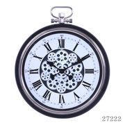 掛け時計 ギア Lサイズ Φ52cm ブラック