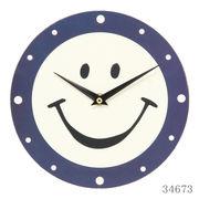 掛け時計 スマイルウォールクロック Φ20cm アイボリー×ネイビー