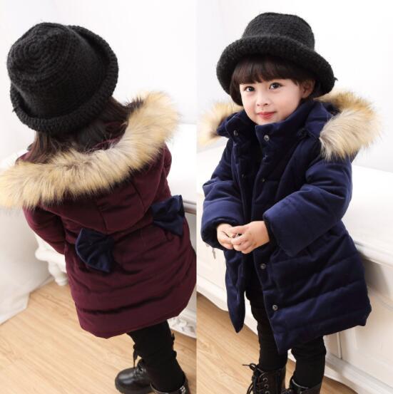子供服 キッズ ベビー 子供用コート 冬 アウター リボン付き ジャケット 中綿コート 女の子