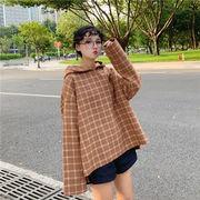 秋冬新商品730294 大きいサイズ 韓国 レディース ファッション  Tシャツ パーカー  LL-4L