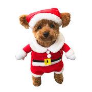 ペット サンタ コスプレ 二足歩行 衣装 ドッグ ネコ 仮装 愛犬 ウェア クリスマス プレゼント