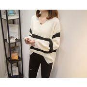 秋冬新商品730306 大きいサイズ 韓国 レディース ファッション  セーター パーカー  3L 4L 5L