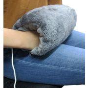 【エネヒート】ヒーター付き抱き枕 グレー(抱き枕&座布団の2形状)