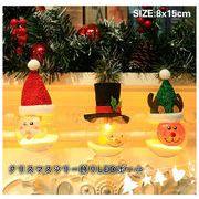 クリスマス雑貨  LED ライト クリスマスツリー飾り 電池 電球色 PVCボール オーナメント 照明 電飾 置物