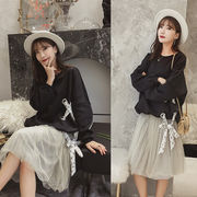 秋冬新商品730317 大きいサイズ 韓国 レディース ファッション ワンピース パーカー3L 4L 5L 6L