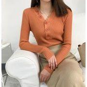 【大きいサイズXL-3XL】【秋冬新作】ファッションセーター♪カーキ/オレンジ/ブラック3色展開◆