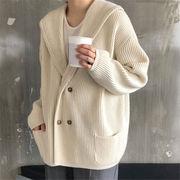 韓国 スタイル ファッションスタイル ファッション レディース Vネック 長袖 編み織 ボレロ