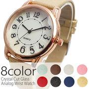 シェルの文字盤がきらきら光る クリスタルカットガラス ラメ入りベルト SPST022 レディース腕時計