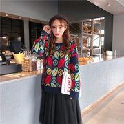 秋冬新商品730381 大きいサイズ 韓国 レディース ファッション  セーター パーカー  3L 4L 5L
