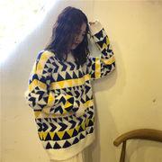 秋冬新商品730393 大きいサイズ 韓国 レディース ファッション  セーター パーカー  3L 4L 5L