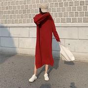 秋冬新商品730388 大きいサイズ 韓国 レディース ファッション  セーター ワンピース 3L 4L 5L